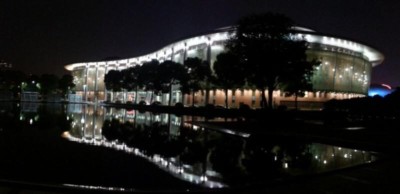 Changzhou Poly theater Bao Li Ju Yuan by night