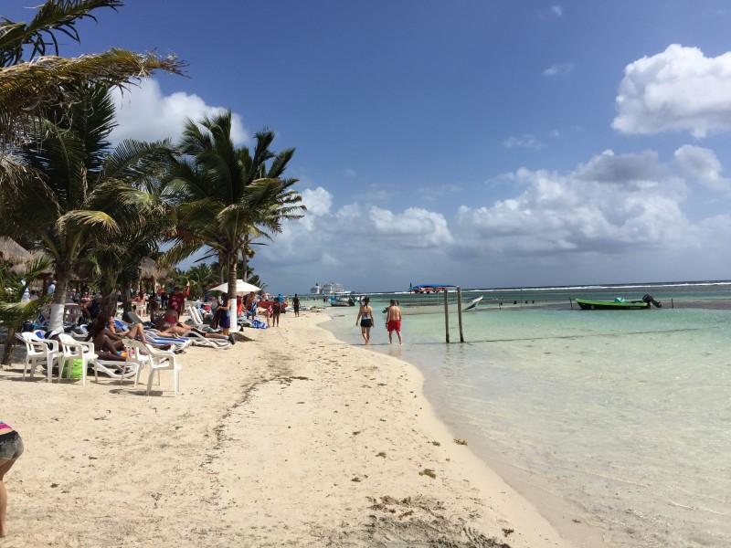 Costa Maya Mexiko mit Schiff NCL