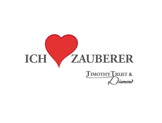 Ich liebe Zauberer. T-Shirt Logo von Jan Böhmermann