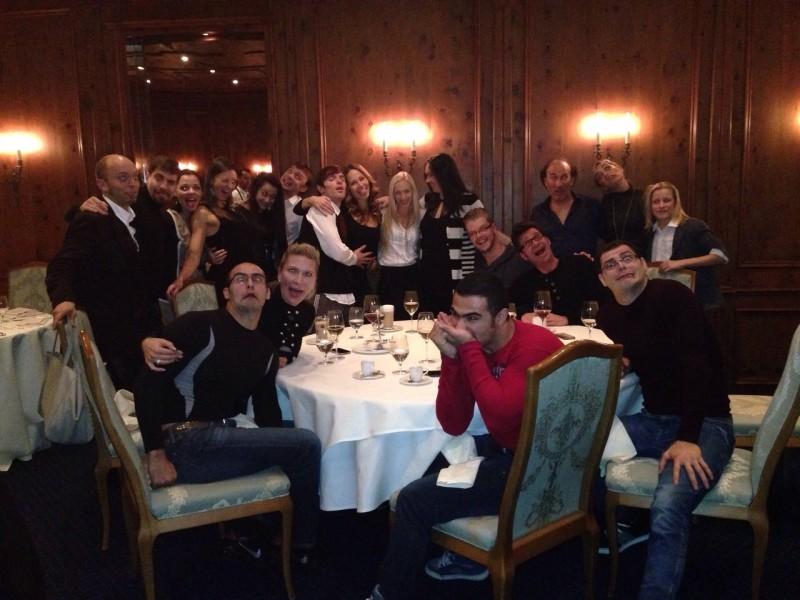 Das Artisten Team von Teatro Schuhbeck