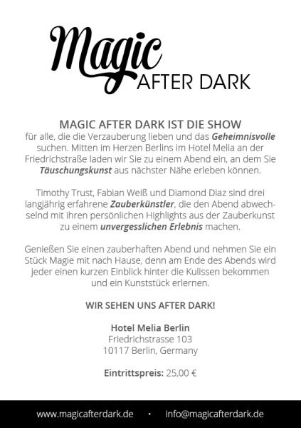 Magic After Dark Berlin Informationen