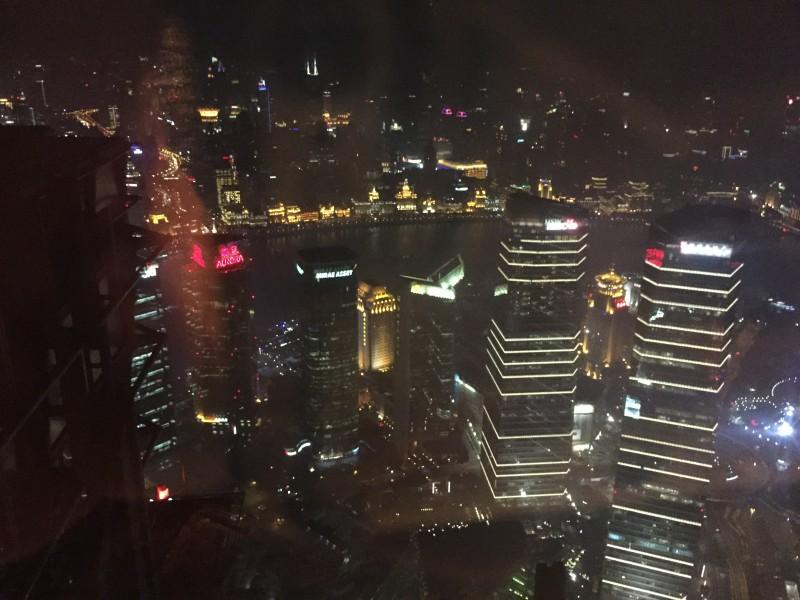 Shanghai - gesehen aus dem 87.Stock des Hyatt Hotels