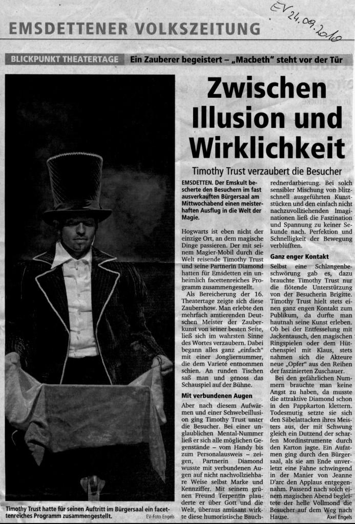 Zaubershow in Emsdetten