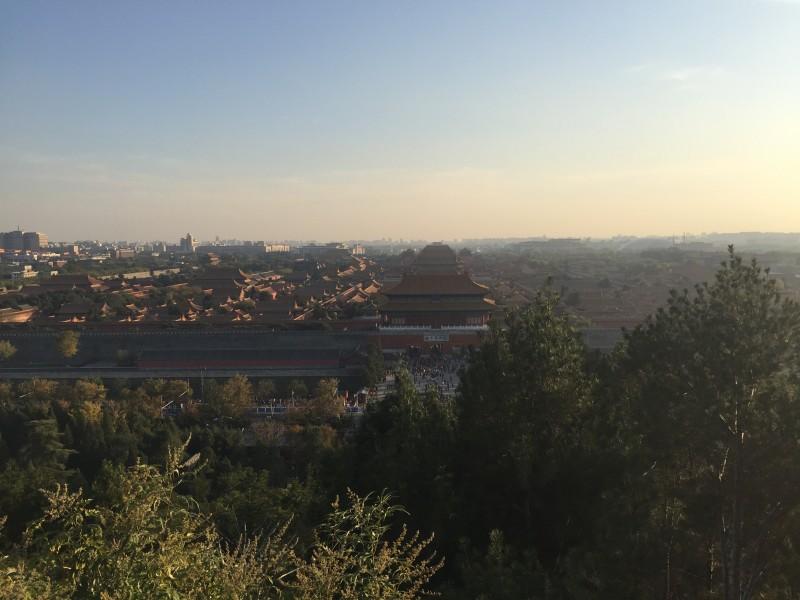 Verbotene Stadt Peking von oben