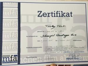 Zertifikat Timothy Trust